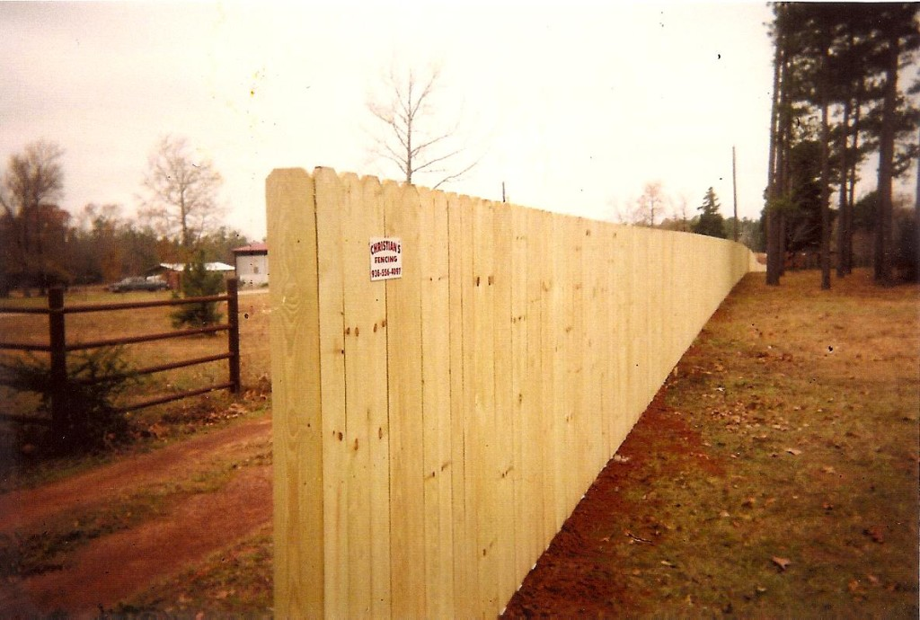 Privacy Fence End