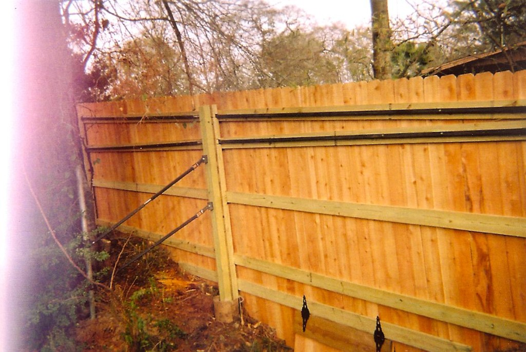 Privacy Fence Supports